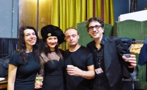 Ménilmontant regorge de beaux artistes bien investis dans leur art et leur quartier. Ici Caroline Allonzo, Morin Smole, Elnour Zidour, Thomas ménil.