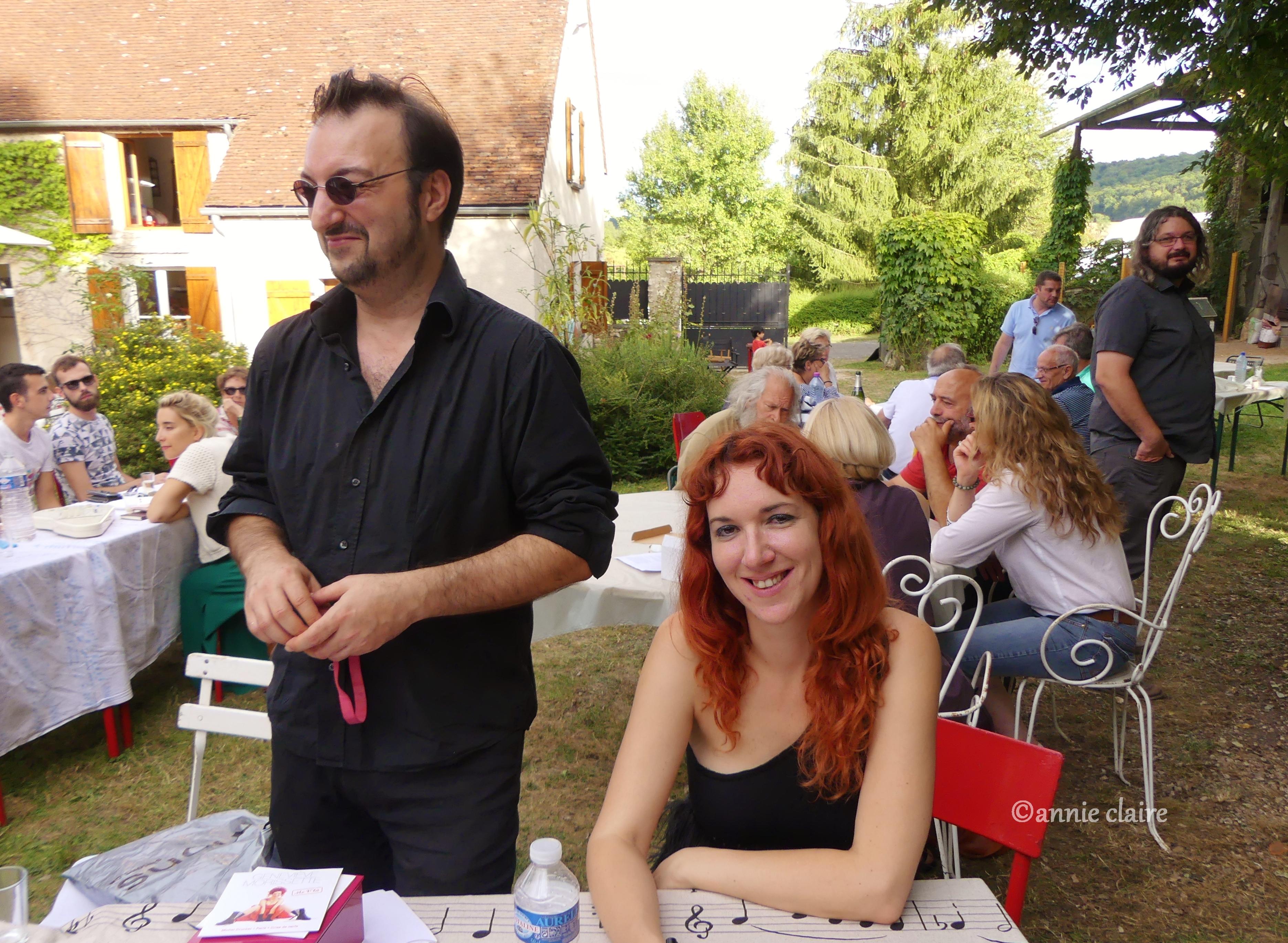 Geneviève Morissette et son éditeur, Laurent Balandras au festival Grange ©annie claire 11.09.2016