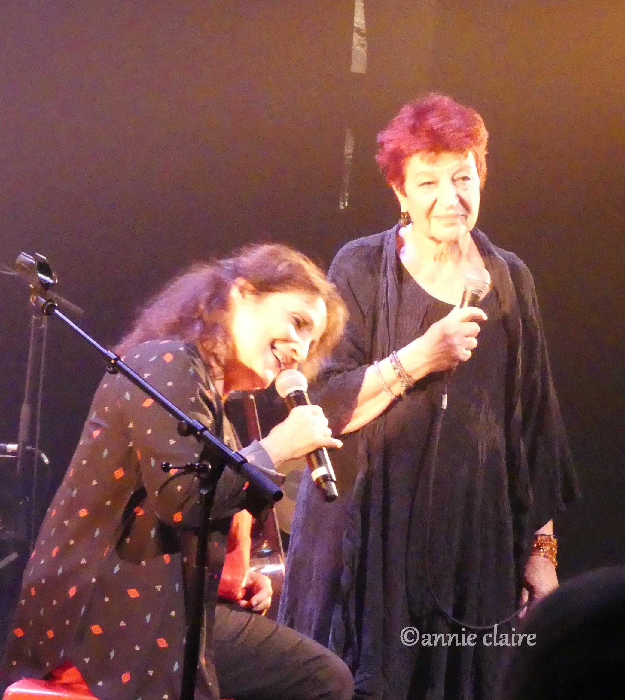 Michèle Bernard et Anne Sylvestre ©annie claire 18.10.2016