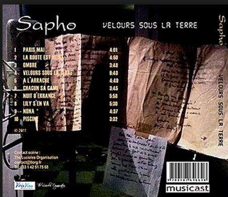 CD Velours sous la Terre