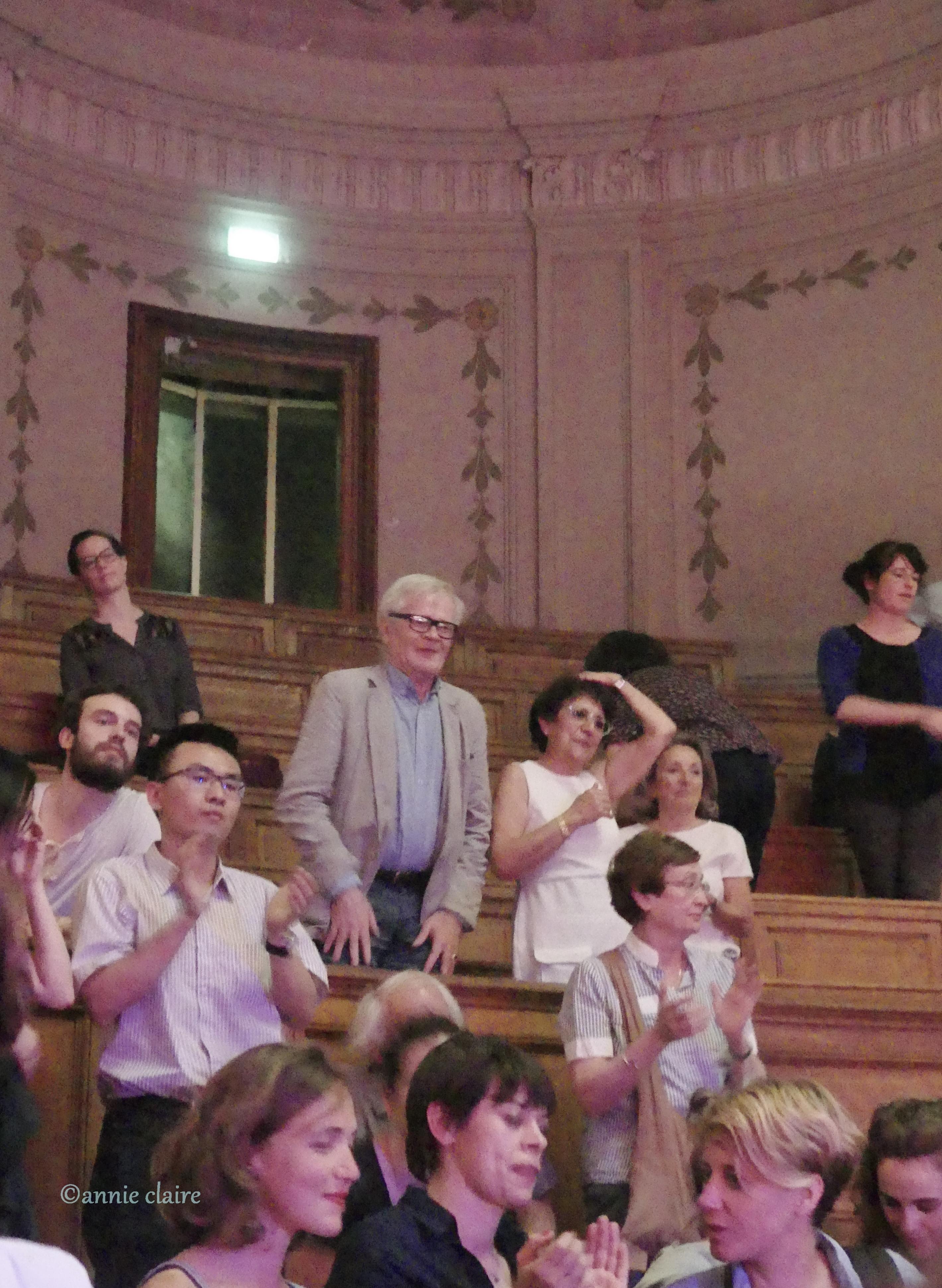 Deux personnages clé du festival Découvrir de Concèze, Pascale Kalfon et Alain Vincenot à la Sorbonne ©annie claire 29.05.2017