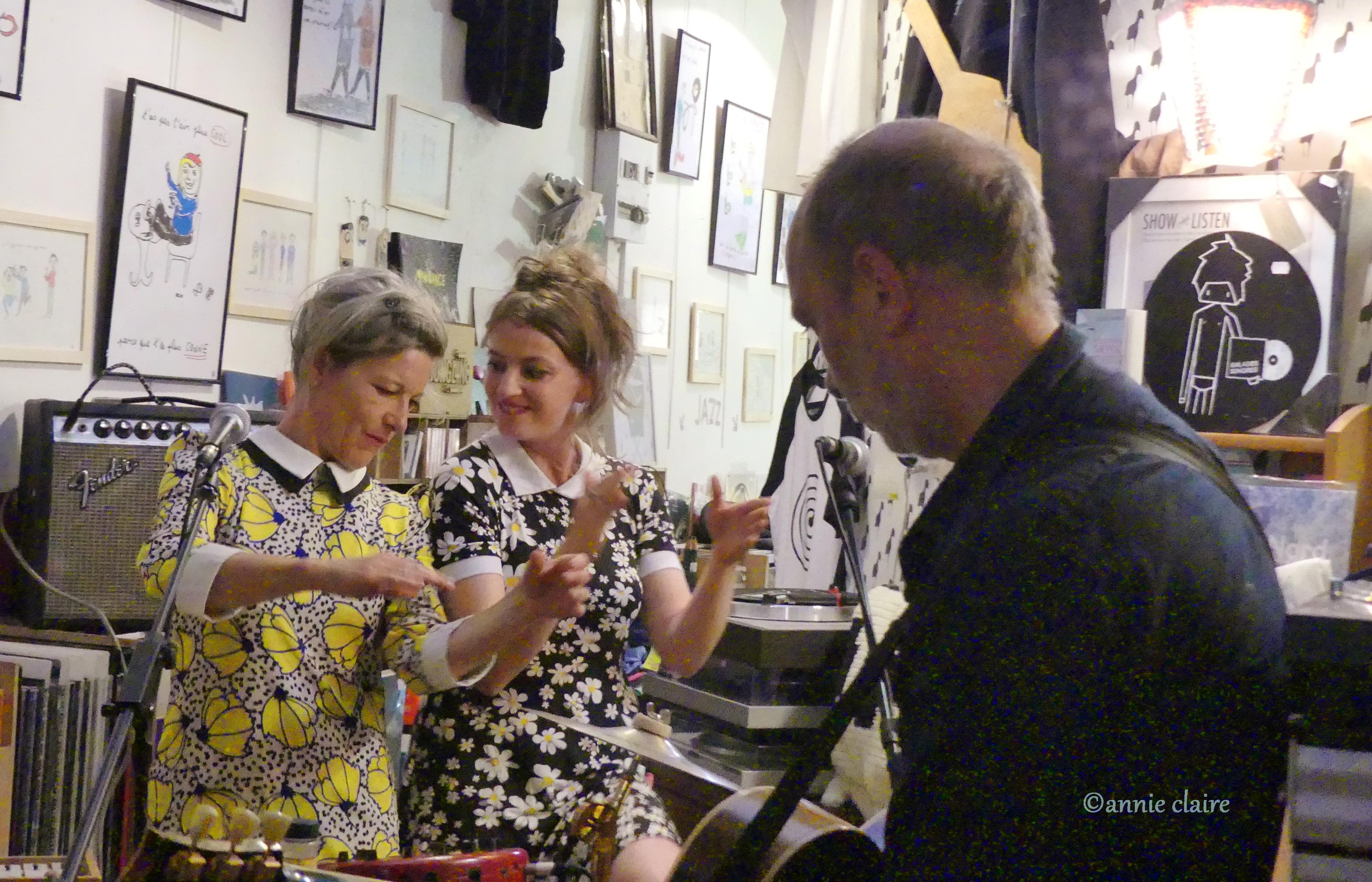 Michel Peteau, Julie Gasnier et Armelle Pioline showcase aux Balades Sonores ©annie claire